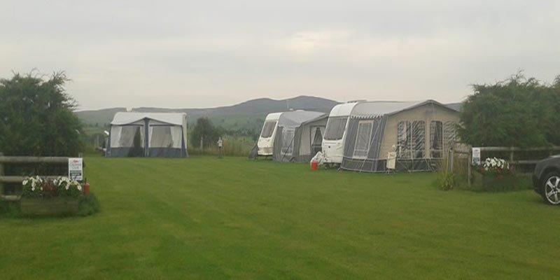 Camping at Tyn Rhos Caravan Park in Snowdonia North Wales